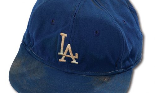 Wayne Los Angeles Dodgers  Professional Model Game Worn Cap(Helms/LA84 collection)